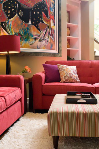 Austin Vibrant Living Room Redesign