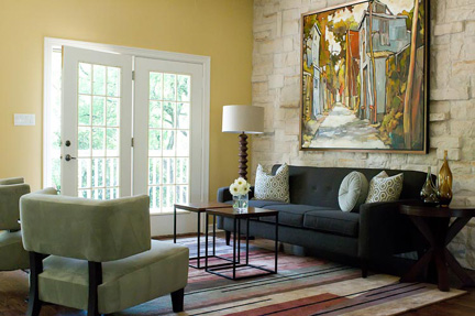 Austin Artistic Sitting Room Redesign
