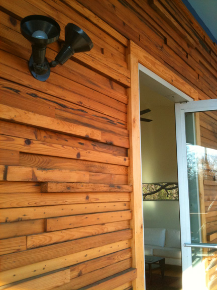 Tile design austin interior design by room fu knockout for Recycled wood siding