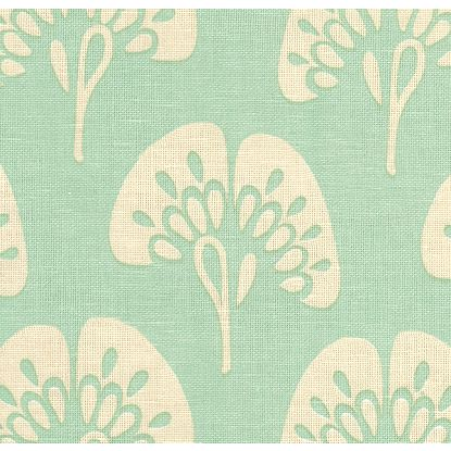 Gingko fabric in aqua, $30/yard (reg. $60/yard)