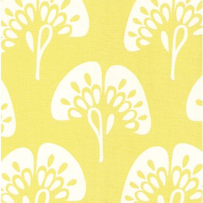 Gingko fabric in citron