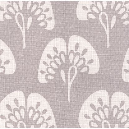 Gingko fabric in platinum