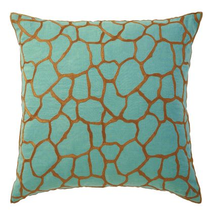 Giraffe Pillow in Aqua, $128.