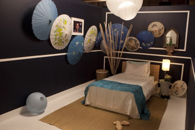 Nina Ferrer's bedroom design, inspired by Courtland.  Supposedly.