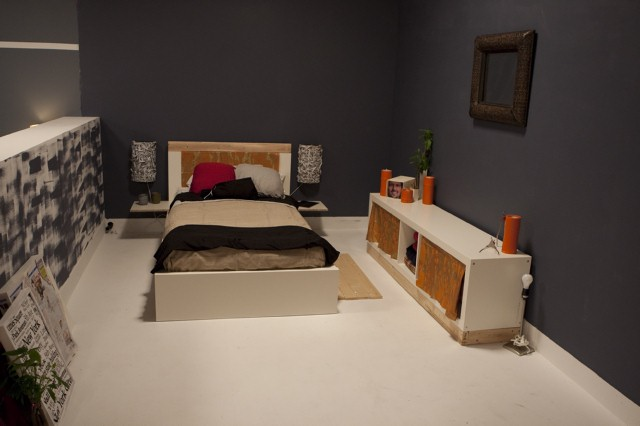 Stacey Cohen's bedroom design, with Dan as inspiration.