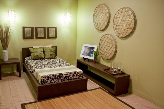 Tera Hampton's bedroom design, inspired by Trent.