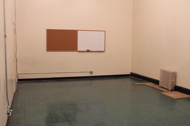 The Blue Team's room, before the makeover.