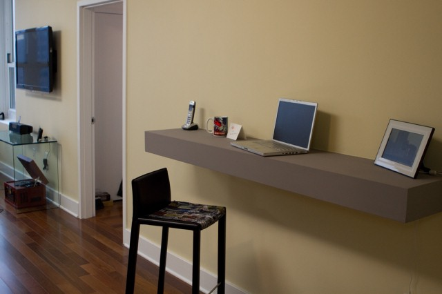 floating desk using countertops | For the Home | Pinterest | DIY and  crafts, Countertops and Floating desk