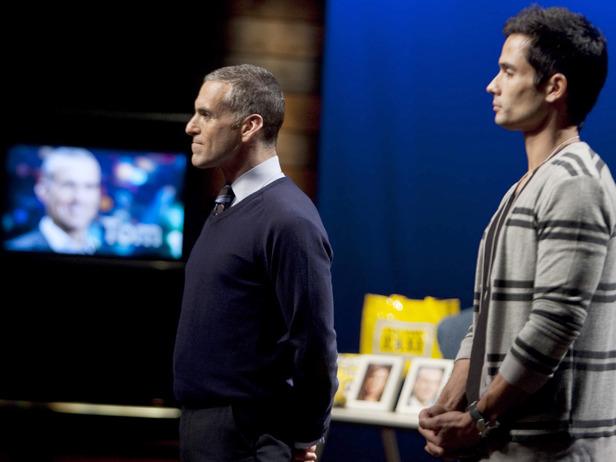 Tom and Courtland face off in the studio during the sixth episode's elimination.