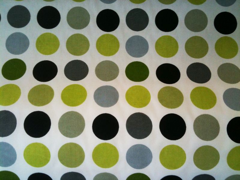 Designer Dots in Black/Lime, $18.99/yard.