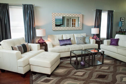 Purple And Cream Living Room Decor Living Room