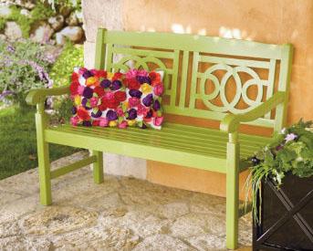 amalfi bench in pesto 199 - Grandin Road Catalog