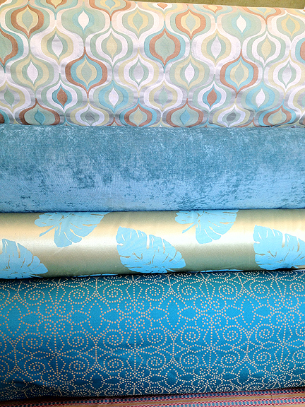modern-fabric-bolt-austin-blue-turquoise-aqua-lime-green-retro-mid-century-leaf-geometric-gold