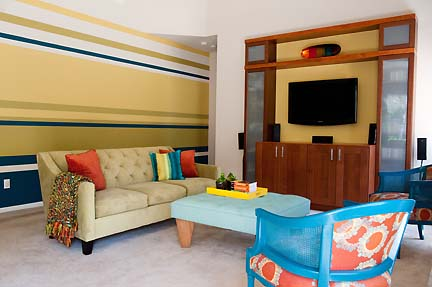 Colorful & Modern Austin Family Room | Austin Interior Design by ...