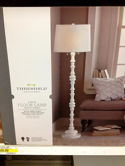 White Wood Floor Lamp WB Designs - White Wood Floor Lamp WB Designs