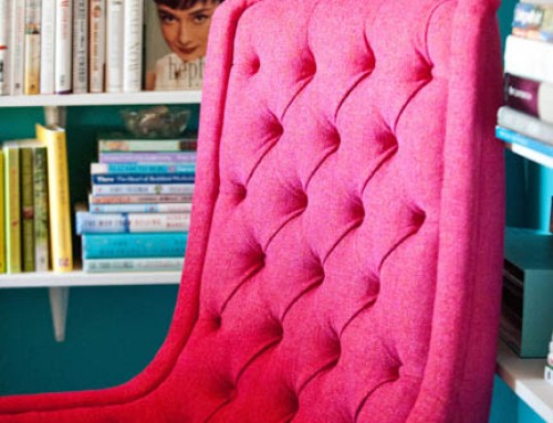 Crazy in Love with a Hot Pink Home Office