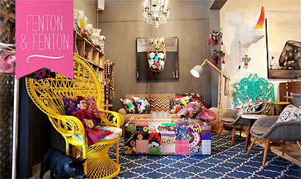 Home decor store Fenton & Fenton is featured in a spread in the Feb/Mar 2013 issue of Australia's online shelter magazine, Adore.
