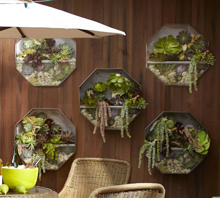 Metal Wall Planter spring fever: modern outdoor planters & pots | austin interior