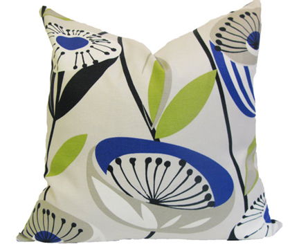 Mid Century Outdoor Pillows : Retro Austin Interior Design by Room Fu Knockout Interiors