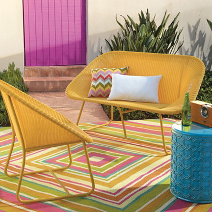 End table austin interior design by room fu knockout for Outdoor furniture yellow