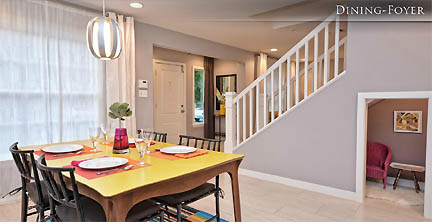Dining room austin interior design by room fu knockout for Dining room under stairs