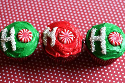 ho ho ho cupcakes christmas perfect pinterest