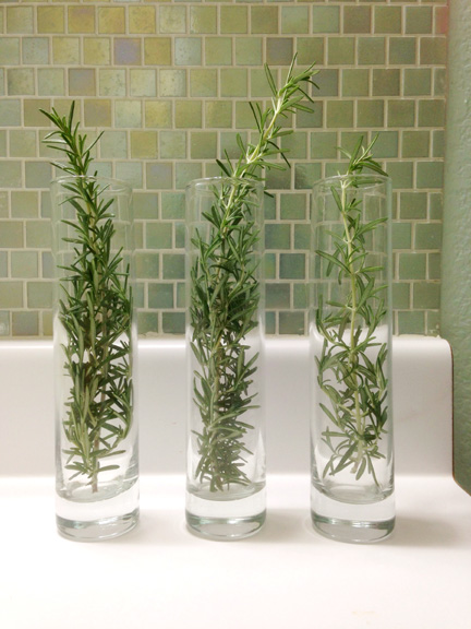 Prepping for guests last minute holiday decorating tips for Bathroom decor vases