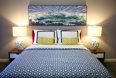sm_navy blue hot pink yellow modern eclectic guest bedroom 1