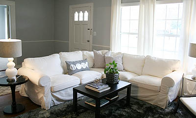 sm_white slipcovered sectional living room gray walls 1