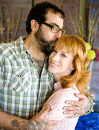 Antonio and Kathy Griffin share a quiet moment.