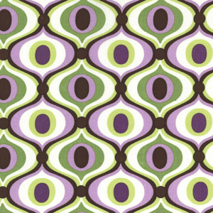 Feeling Groovy in orchid (combed cotton), $8.95/yard