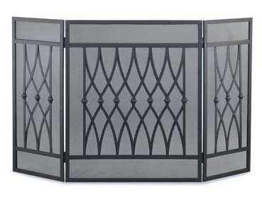 Napa Forge 3 Panel Graceful Home Fireplace Screen, $114.99
