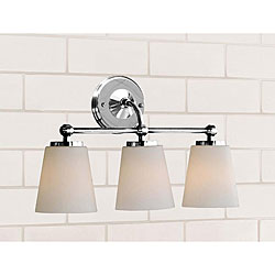 Chrome Bathroom Triple Sconce, $89.99 (available in other finishes)