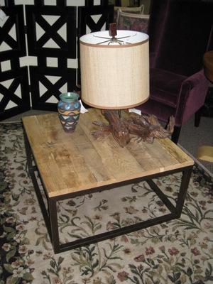Wood & steel coffee table, $250