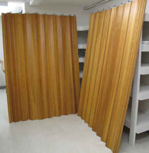 Bentwood room dividers, $175.