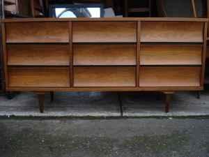 Awesome walnut dresser, $300.