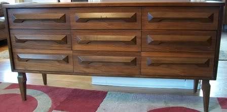Supercool mid-century dresser, $165.