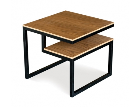 Design Public's Gus Modern Ossining End Table (walnut ply with black base), $445.