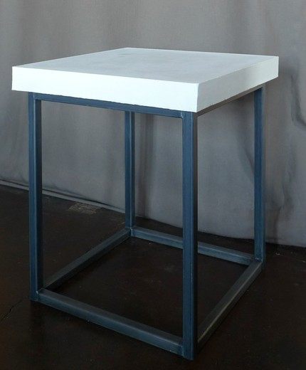Timeless Modern's Side Table with Concrete Top and Steel Base, $375.