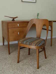 Drop-leaf desk and supercool chair, $470.