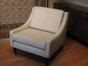 Retro leather chair, $350.