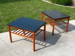 Pair of teak side tables, $195.