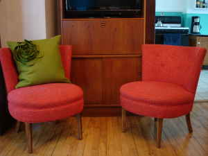 Pair of cute chairs, $220.