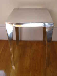 Aluminum table, $60.