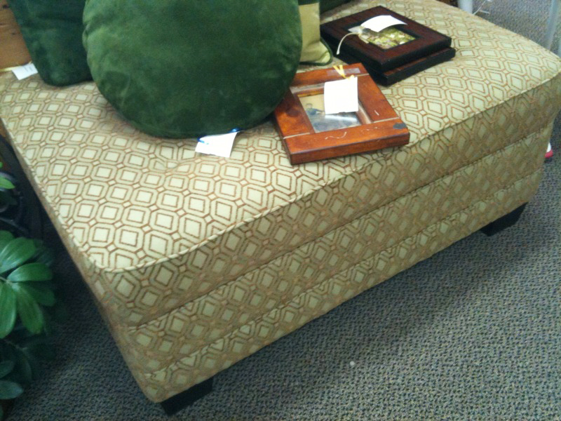A great price on this large ottoman.  $262.25