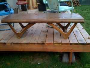 Coffee table (needs elbow grease), $10.