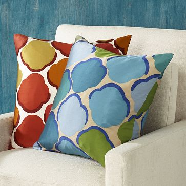 Shells Pillow Cover in Pool, $14.99.