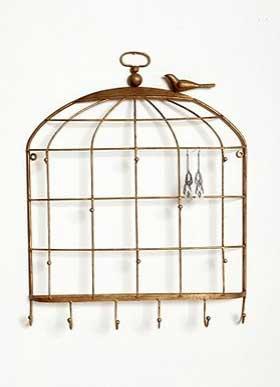Birdcage Wall Jewelry Holder, $28.