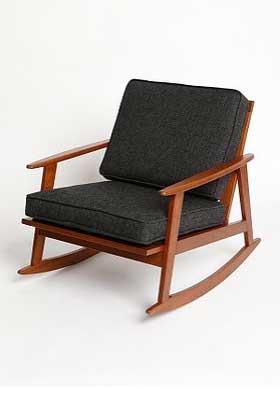 Mid-Century Rocker Chair, $288.
