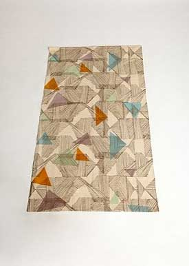 3x5 UO Triangles Rug, $34.